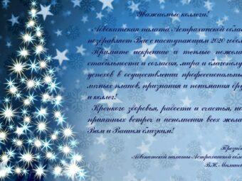 Поздравления Президента Адвокатской палаты Астраханской области Малиновской В.Н. с Новым 2020 Годом!